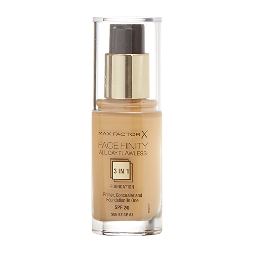 Max Factor Face Finity All Day Flawless 3in1 Foundation SPF20 63 Sun Beige 30ml