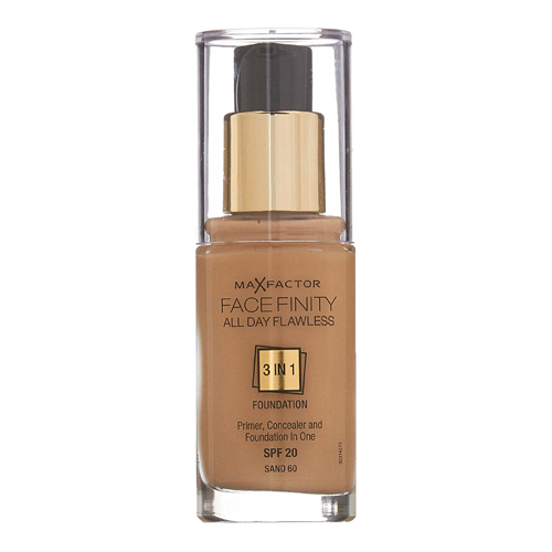 Max Factor Face Finity All Day Flawless 3in1 Foundation SPF20 W60 Sand 30ml