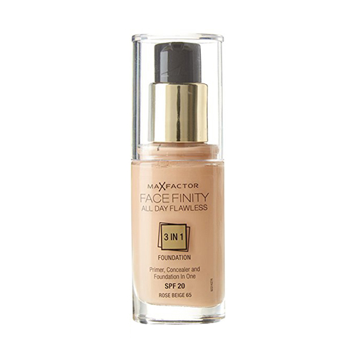 Max Factor Face Finity All Day Flawless 3in1 Foundation SPF20 W65 Rose Beige 30ml
