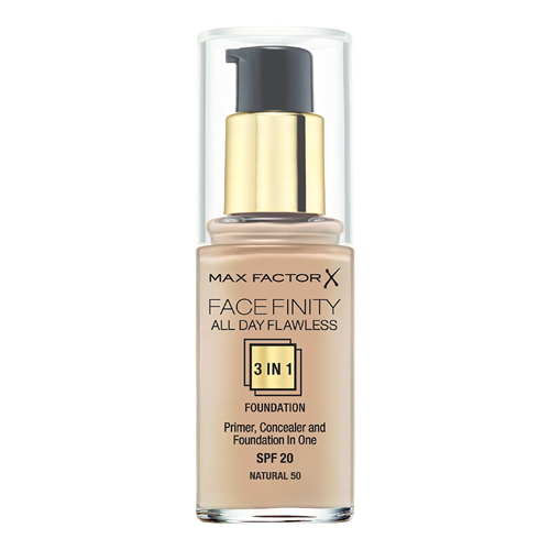Max Factor Face Finity All Day Flawless 3in1 Foundation SPF20 W50 Natural 30ml