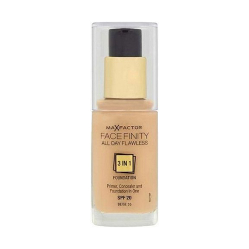 Max Factor Face Finity All Day Flawless 3in1 Foundation SPF20 W55 Beige 30ml