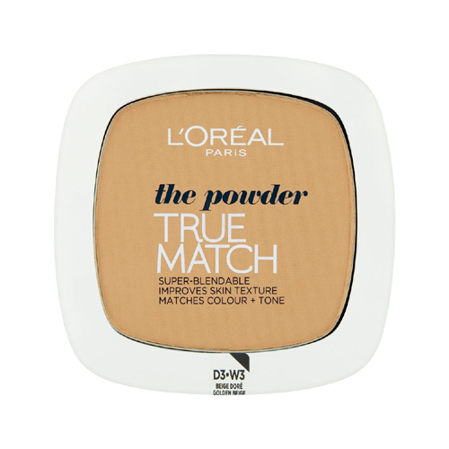 L'Oréal Paris True Match Compact Powder 3D-W3 Golden Beige 9g