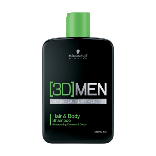 Schwarzkopf 3D Men Hair & Body Shampoo 250ml