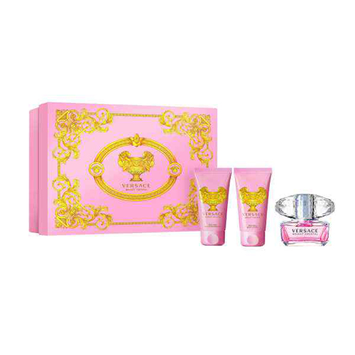 Versace Bright Crystal Gift Set: EdT 50ml+BL 50ml+SG 50ml