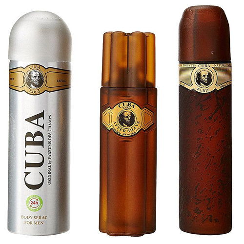 Cuba Blue Gift Set: EdT 100ml+Deo Spray 200ml+After Shave Splash 100ml