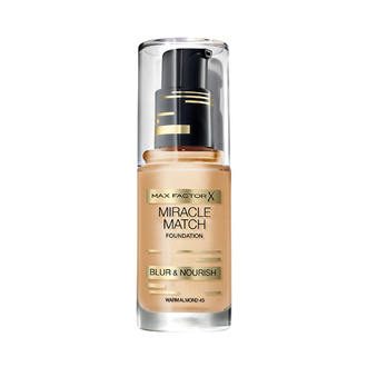 Max Factor Miracle Match Foundation 45 Warm Almond 30ml