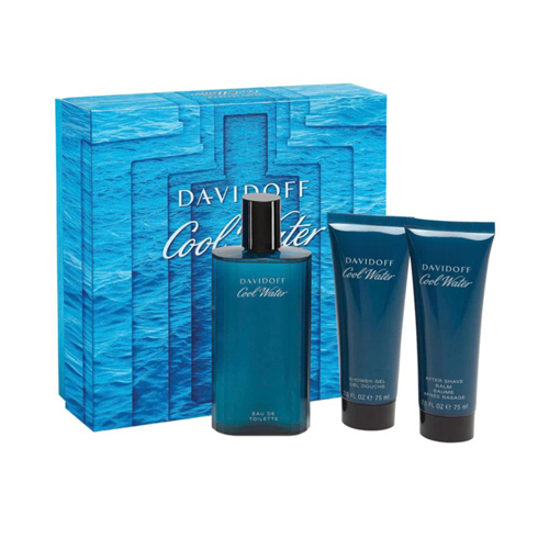 Davidoff Cool Water Man Gift Set: EdT 125ml+AB 75ml+SG 75ml