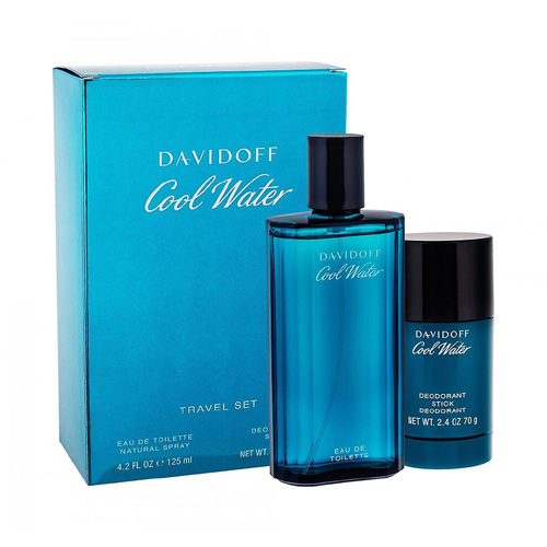 Davidoff Cool Water Man Gift Set: EdT 125ml+Deo Stick 75ml