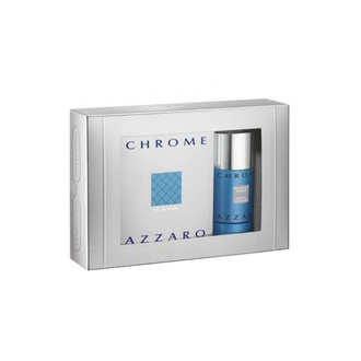 Azzaro Chrome Gift Set: EdT 100ml + Deo Spray 150ml