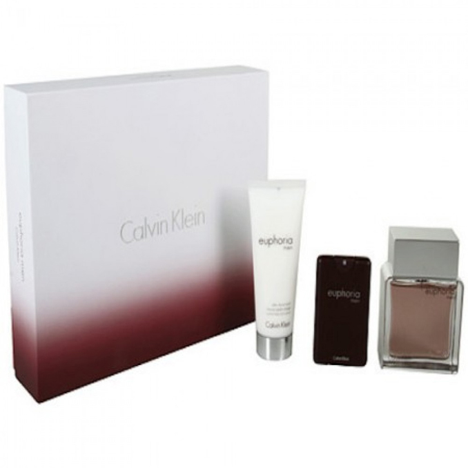 Calvin Klein Euphoria For Men Gift Set: EdT 50ml+SG 100ml