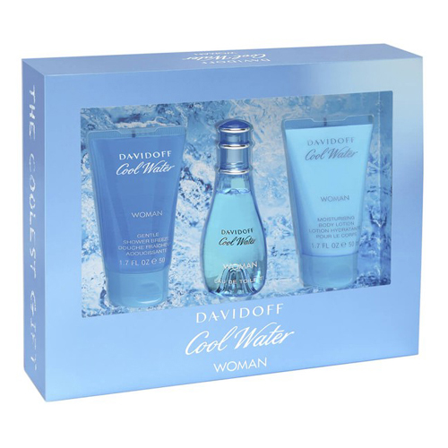 Davidoff Cool Water Woman Gift Set: EdT 50ml+SG 50ml+BL 50ml
