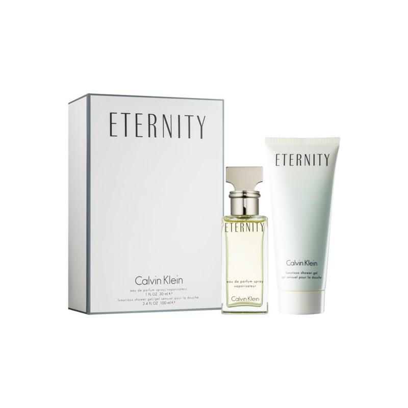 Calvin Klein Eternity Gift Set: EdP 50ml+BL 100ml+SG 100ml