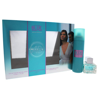 Antonio Banderas Blue Seduction Woman Gift Set: EdT 80ml+Deo Spray 150ml