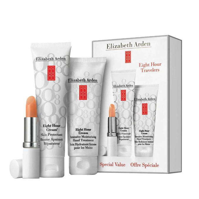 Elizabeth Arden Eight Hour Cream Gift Set: Skin Protectant 50ml+Intensive Moisturizing Hand Treatment 75ml+Lip Protectant 3,7g